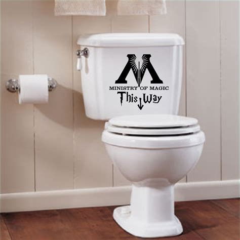 bathroom decal harry potter ministry of magic bathroom quote vinyl decal