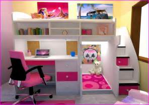 Bunk bed with desk underneath and stairs home design ideas