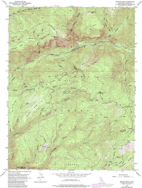 usgs topo maps california duncan peak topographic map ca usgs topo 39120b5