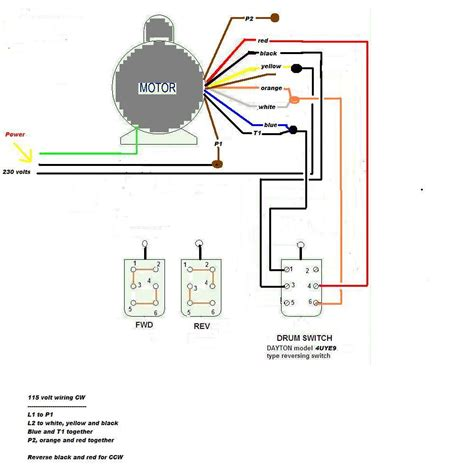 dayton drum reversing switch wiring diagram dayton get