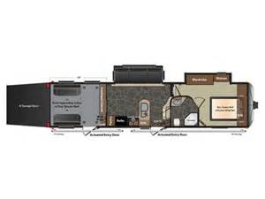 Fuzion Toy Hauler Floor Plans 2014 Fuzion 310 Floor Plan Toy Hauler Keystone Rv