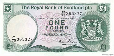 bank of scotland kontakt 1 pound scotland 1983 p 341b b74 0222 banknoten