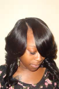 part hair for black invisible part sew in weave hairstyles beautiful hairstyles