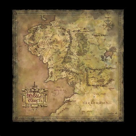 map of the middle earth weta workshop