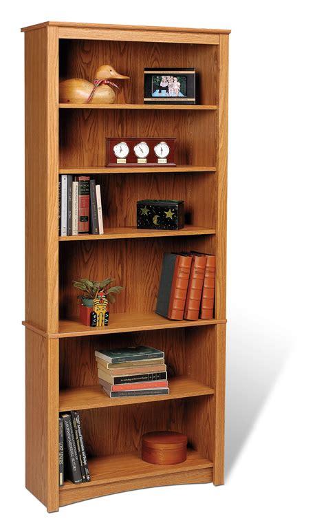 6 shelf oak bookcase prepac oak 6 shelf bookcase