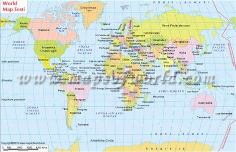 estonia on the world map maailmakaardil world map in estonian