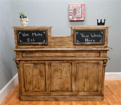 Antique French Store Counter Old Restaurant Desk Antique Reception Desk
