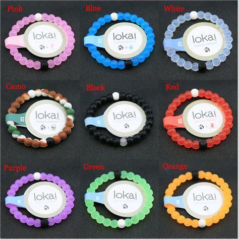 Wholesale 10Colors Nature Silicone Beads Lokai Bracelet Yellow/Green/Purple/Black/Orange/Camo