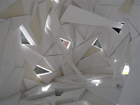 Origami Model - applying the of origami into architectural interior