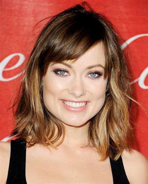 lob side bangs 30 super chic medium hairstyles with bangs