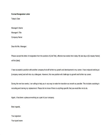 resignation letter due to sickness