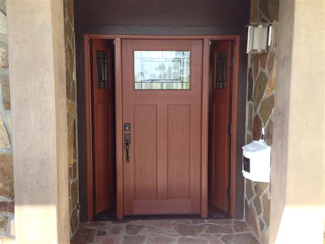 Doors: awesome craftsman front door with sidelights
