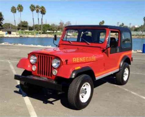 jeep renegade 1985 jeep cj renegade 1985 7 that it has had only one