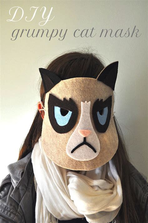 How To Make A Cat Mask Out Of Paper Plates - grumpy cat mask 183 how to make a mask 183 other on cut out