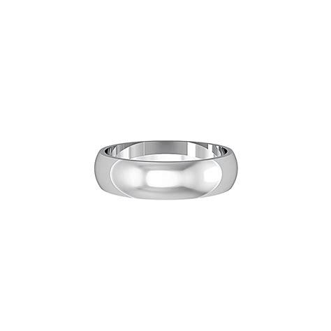 white gold 9ct white gold 5mm d shape wedding ring mens