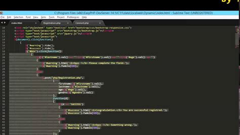 php tutorial harvard dynamic website html jquey php sql js css3 youtube