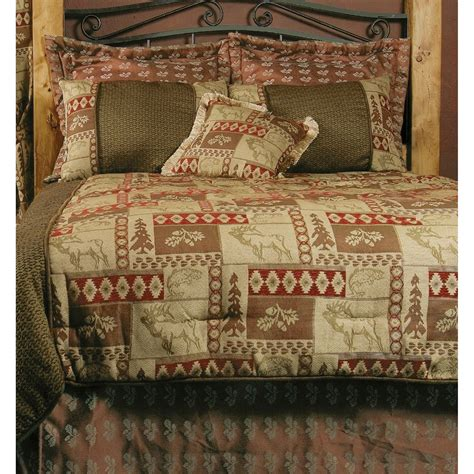 blue barn bedding elk patchwork comforter set queen 7