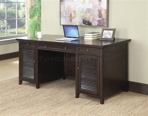 Office Desk Outlet 801097 Office Desk In Brown By Coaster W Power Outlet