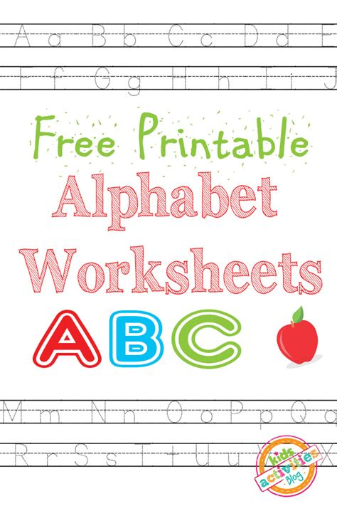 printable alphabet worksheets alphabet worksheets free kids printable