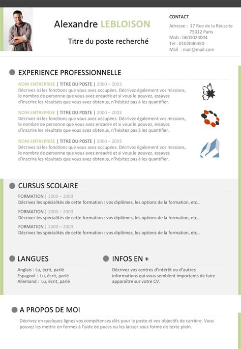 Resume Template Libreoffice by Modele Cv Libreoffice Contrat De Travail 2018