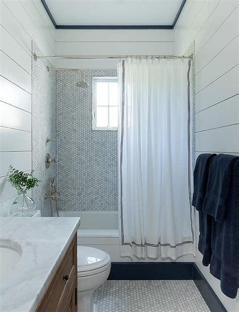 White Shiplap Tile White Shiplap Bathroom With White Herringbone Floor Tiles