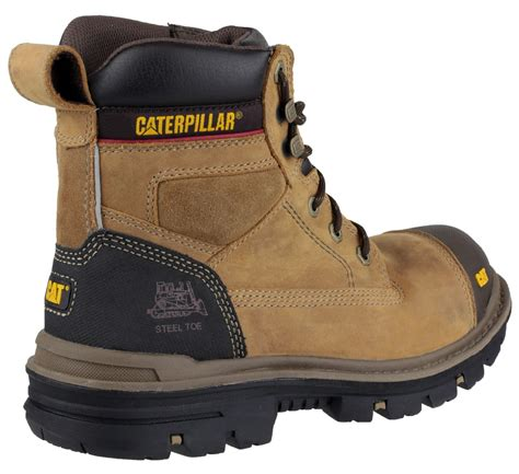 Caterpillar S7 Safety Boot mens cat caterpillar gravel steel toe cap safety work boots black beige 6 12 ebay