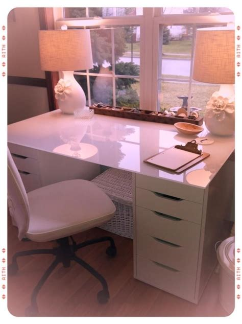 white makeup desk with drawers love this idea facebook marketingvra ikea alex