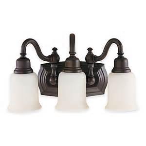 Buy Bathroom Lighting Fixtures Buy Feiss 174 Canterbury 3 Light Bath Vanity Fixture In Rubbed Bronze From Bed Bath Beyond