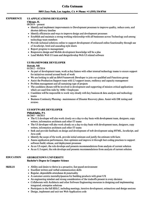 ui developer resume template ui developer description sap security consultant cover