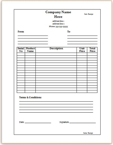 Ms Office Sales Receipt Template by Receipt Template Microsoft Word 28 Images Donation