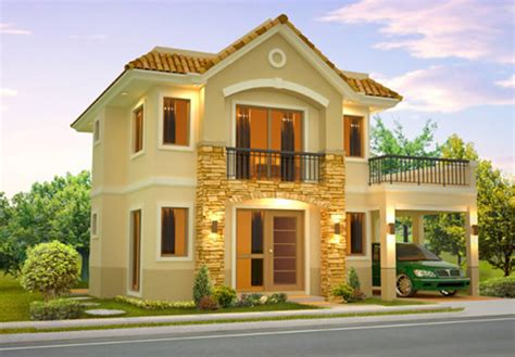 Floor Plans Narrow Lot by House Design Philippines 2 Storey Two Storey House Design