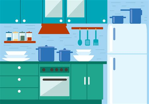 house interior vector free kitchen vector illustration download free vector art stock graphics images