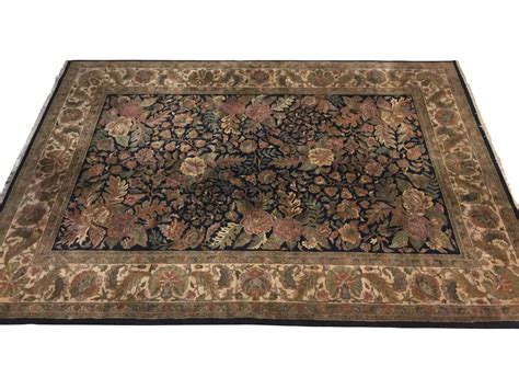 Ethan Allen Area Rugs Large Ethan Allen Knotted Wool Area Rug 12 X 9 1 2 Black Rock Galleries