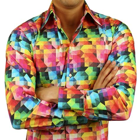 s psyhedelic fitted shirt