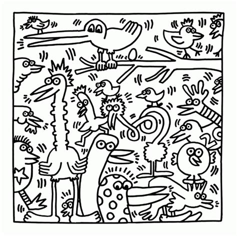 keith haring coloring pages coloring home