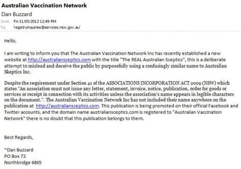Complaint Letter Network Problem complaints to government bodies australian vaccination