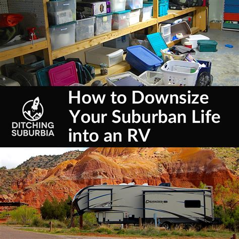 how to downsize how to downsize your suburban into an rv ditching