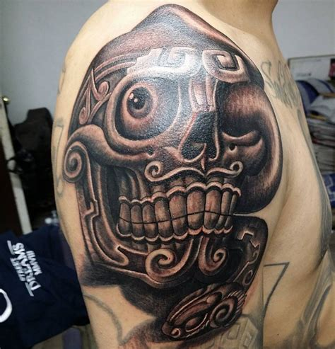 aztec skull tattoos aztec sugar skull tattoos www pixshark images