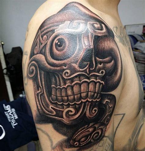 aztec skull tattoo aztec sugar skull tattoos www pixshark images