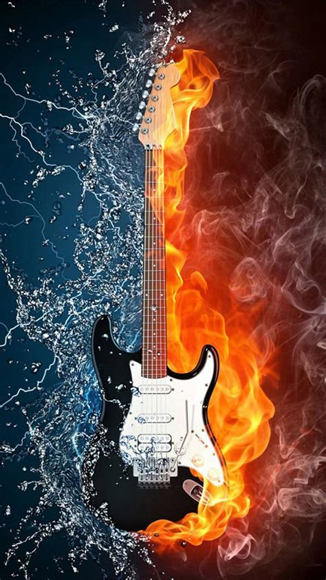 wallpaper hd iphone 6 music water and fire guitar iphone 6 wallpapers hd iphone 6