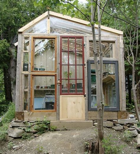 Greenhouse From Salvaged Windows Decor Relaxshacks Salvaged Window Greenhouses Cabins N Micro Structures