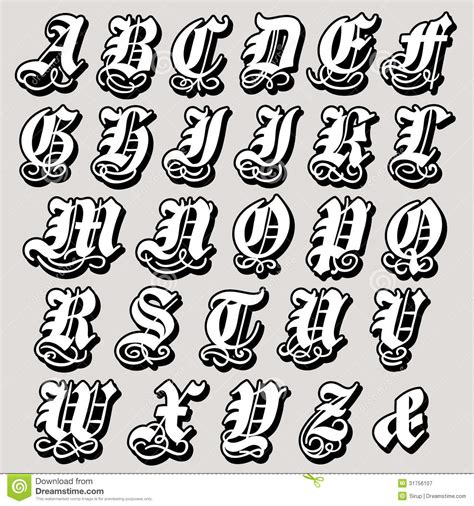 gothic tattoo alphabet complete gothic alphabet download from over 42 million