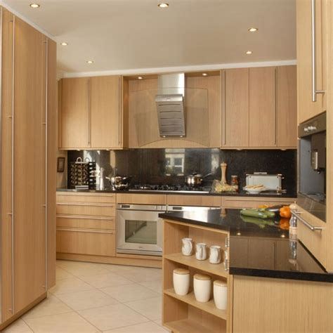 oak kitchen ideas simple oak veneer kitchen kitchen design decorating ideas housetohome co uk