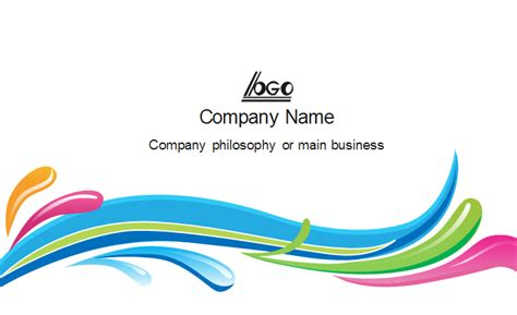 Colorful Curve Business Card Template