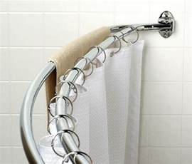 curved shower curtain rod furniture ideas