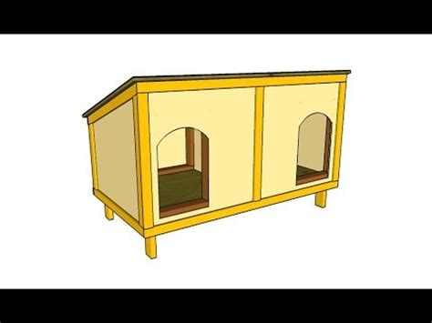 instructions on how to build a dog house how to build a double dog house youtube