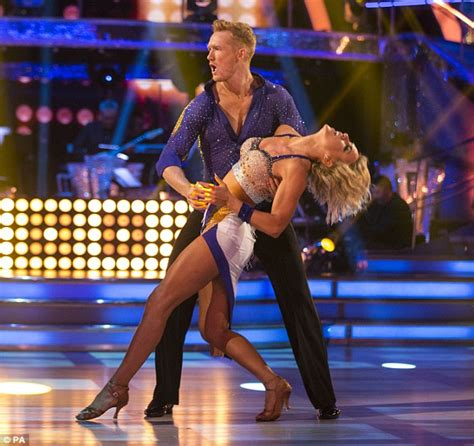 hot celeb dancing advice to over excited male strictly contestants during