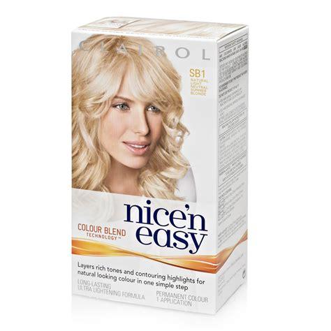 esalon review custom hair dye at home clairol nice n easy sb1 light summer blonde pharmacy central