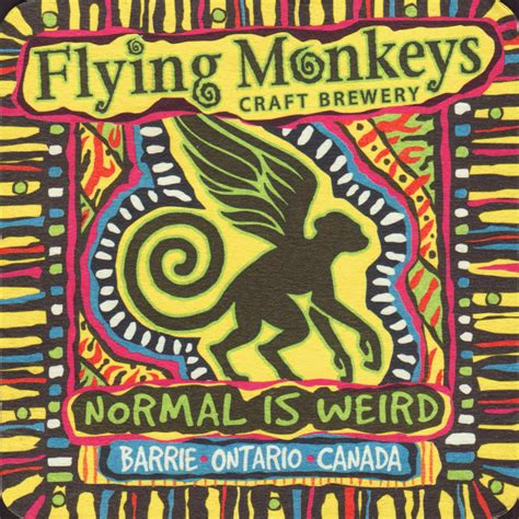 flying brewery brewery flying monkeys craft barrie coaster number 2 1