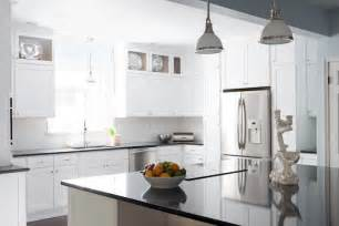 Quartz Kitchen Black Quartz Countertops Cottage Kitchen Beth Design